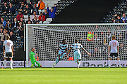 Queens Park Rangers forward Idriss Sylla (40) celebrates his winning goal during the EFL Sky Bet Championship match between Fulham and Queens Park Rangers at Craven Cottage, London, England on 1 October 2016. Photo by Jon Bromley.