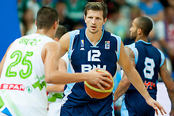 Mirza Teletovic of Bosnia and Herzegovina during friendly match between National teams of Slovenia and Bosnia and Herzegovina for Eurobasket 2013 on August 16, 2013 in Podmezakla, Jesenice, Slovenia. (Photo by Urban Urbanc / Sportida.com)