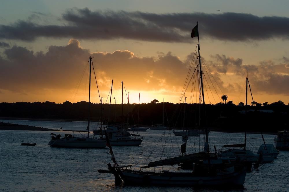 Sunset at Alvor on the Algarve, Portugal
