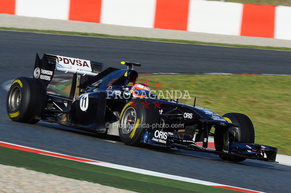 18.02.2011, Circuit de Catalunya, Barcelona, ESP, Formel 1 Test 3 2011,  im Bild Rubens Barrichello (BRA),  Williams F1 Team EXPA Pictures © 2011, PhotoCredit: EXPA/ nph/  Dieter Mathis       ****** out of GER / SWE / CRO  / BEL ******