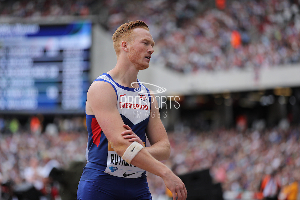 Greg Rutherford of Great Britain in the long jump during the Sainsbury's Anniversary Games at the Queen Elizabeth II Olympic Park, London, United Kingdom on 25 July 2015. Photo by Phil Duncan.