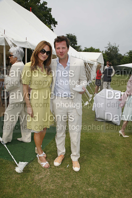 EMILY OPPENHEIM-TURNER AND WILLIAM TURNER, Guy Leymarie and Tara Getty host The De Beers Cricket Match. The Lashings Team versus the Old English team. Wormsley. ONE TIME USE ONLY - DO NOT ARCHIVE  © Copyright Photograph by Dafydd Jones 66 Stockwell Park Rd. London SW9 0DA Tel 020 7733 0108 www.dafjones.com