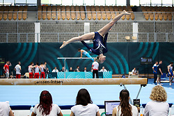 Adela Sajn of Slovenia at Balance Beam during Qualifications of Artistic Gymnastics FIG World Challenge Koper 2018, on June 1, 2017 in Arena Bonifika, Koper, Slovenia. Photo by Matic Klansek Velej/ Sportida