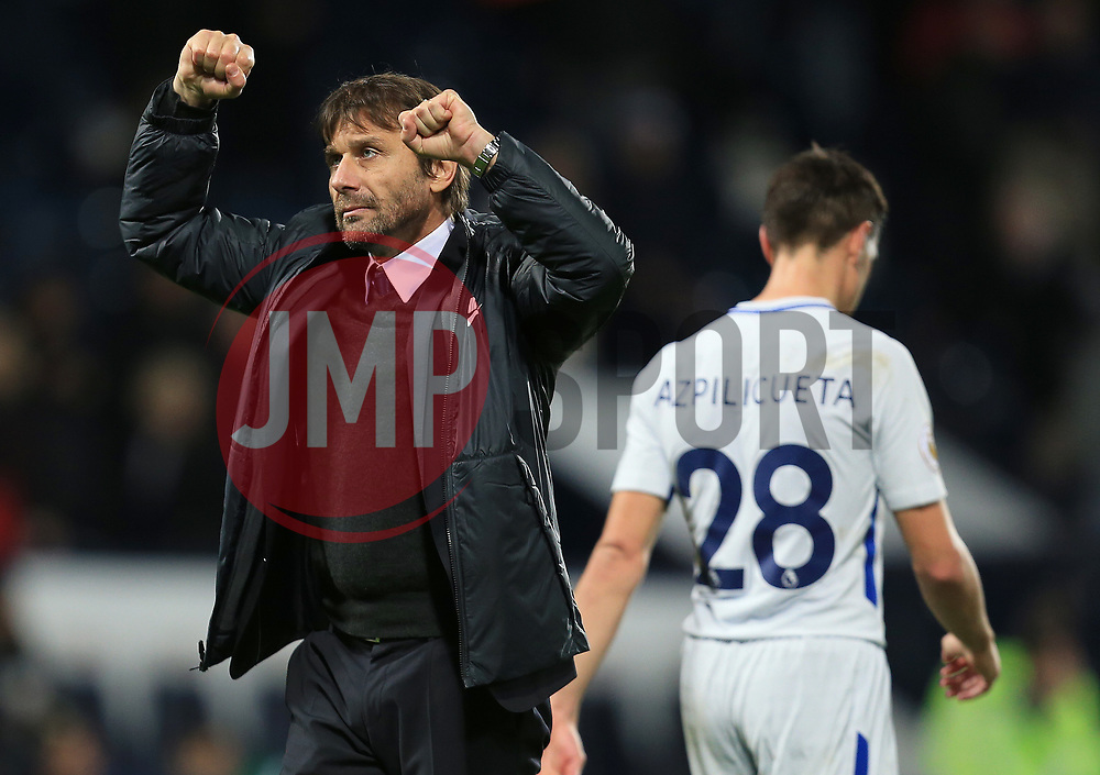 Chelsea manager Antonio Conte celebrates the win - Mandatory by-line: Paul Roberts/JMP - 18/11/2017 - FOOTBALL - The Hawthorns - West Bromwich, England - West Bromwich Albion v Chelsea - Premier League