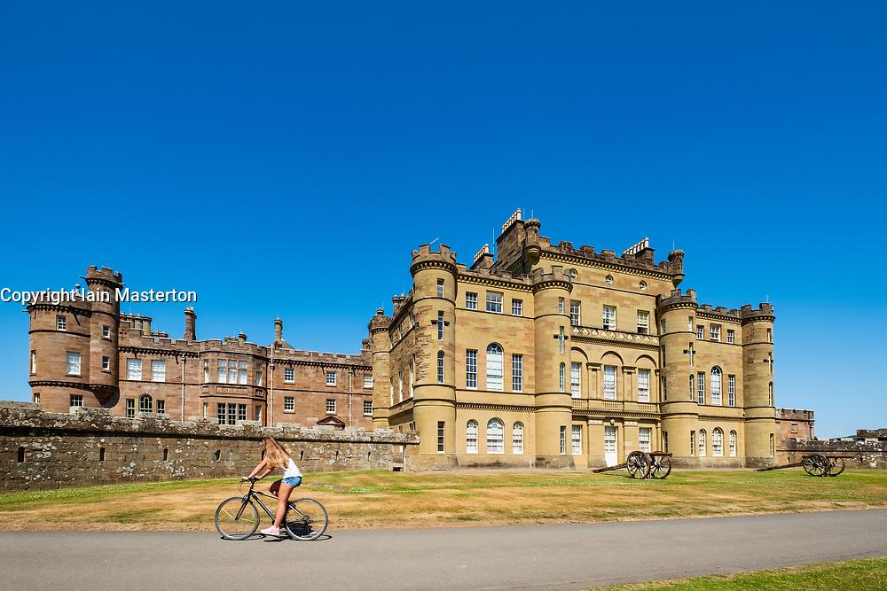 View of Culzean Castle in Ayrshire, Scotland, UK