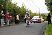 France, October 9 2011: Eventual winner, Fabien SCHMIDT, TEAM U NANTES ATLANTIQUE (UNA) led the Espoirs race over Côte de l'Epan of the 2011 edition of the Paris Tours cycle race. Copyright 2011 Peter Horrell