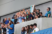 Lazio fans chanting during the Pre-Season Friendly match between Brighton and Hove Albion and SS Lazio at the American Express Community Stadium, Brighton and Hove, England on 31 July 2016.