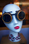 Mannequin with goggles