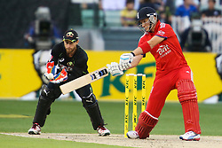 © Licensed to London News Pictures. 26/12/2013. Joe Root batting during the 2nd T20 international between Australia Vs England at the Melbourne Cricket Ground, Victoria, Australia. Photo credit : Asanka Brendon Ratnayake/LNP