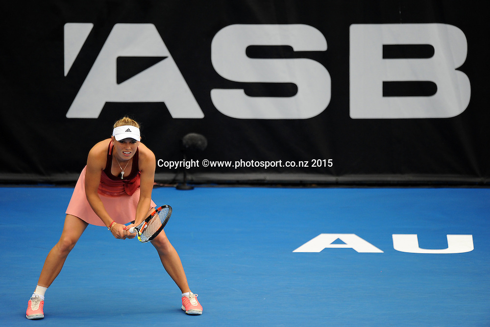 Danish player Caroline Wozniacki during her Semi Finals match of the ASB Classic Women's International. ASB Tennis Centre, Auckland, New Zealand. Friday 9 January 2015. Copyright photo: Chris Symes/www.photosport.co.nz