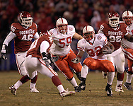 University of Nebraska running back Brandon Jackson (32) in action against Oklahoma during the Big 12 Championship game at Arrowhead Stadium in Kansas City, Missouri, December 2, 2006.  Oklahoma beat Nebraska 21-7.<br />
