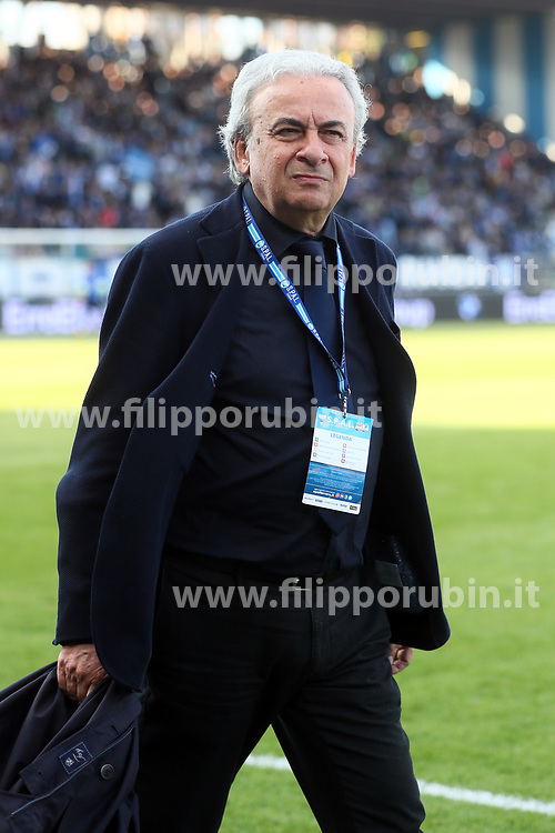 "Foto Filippo Rubin<br /> 07/04/2018 Ferrara (Italia)<br /> Sport Calcio<br /> Spal - Atalanta - Campionato di calcio Serie A 2017/2018 - Stadio ""Paolo Mazza""<br /> Nella foto: WALTER MATTIOLI (PRESIDENTE SPAL)<br /> <br /> Photo by Filippo Rubin<br /> April 07, 2018 Ferrara (Italy)<br /> Sport Soccer<br /> Spal vs Atalanta - Italian Football Championship League A 2017/2018 - ""Paolo Mazza"" Stadium <br /> In the pic: WALTER MATTIOLI (PRESIDENTE SPAL)"