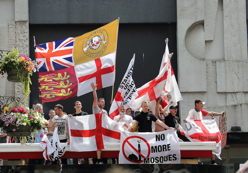 EDL hold a rally in Centenary Square in Birmingham against Islam