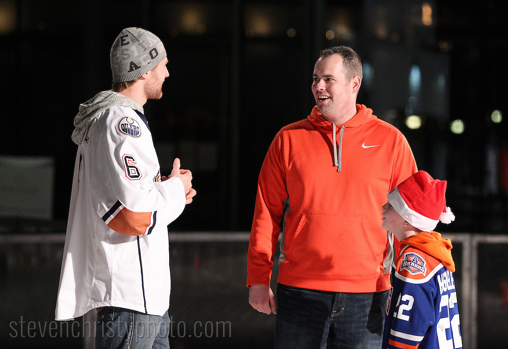 December 14, 2014: The Oklahoma City Barons host WinterFest at the Devon Ice Rink in the Myriad Gardens in Oklahoma City, OK.