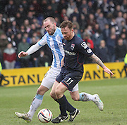 James McPake and Ross County's Craig Curran - Ross County v Dundee, SPFL Premiership at The Global Energy Stadium<br /> <br />  - &copy; David Young - www.davidyoungphoto.co.uk - email: davidyoungphoto@gmail.com