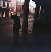 Photographed with a Holga camera outside Cafe Du Monde, French Quarter, New Orleans.