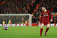 Football - 2019 / 2020 UEFA Champions League - Round of Sixteen, Second Leg: Liverpool (0) vs. Atletico Madrid (1)<br /> <br /> Liverpool's Andy Robertson, at Anfield.<br /> <br /> <br /> COLORSPORT/TERRY DONNELLY