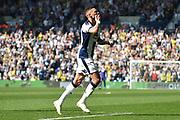 West Bromwich Albion defender Kieran Gibbs (3) scores a goal and celebrates  1-0 during the EFL Sky Bet Championship match between West Bromwich Albion and Hull City at The Hawthorns, West Bromwich, England on 19 April 2019.