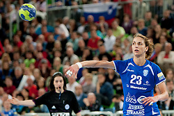 Andrea Penezic #23 of Krim during handball match between RK Krim Mercator (SLO) and Larvik HK (NOR) in second game of semi final of EHF Women's Champions League 2012/13 on April 13, 2013 in Arena Stozice, Ljubljana, Slovenia. (Photo By Urban Urbanc / Sportida).