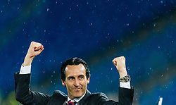 18.05.2016, St. Jakob Park, Basel, SUI, UEFA EL, FC Liverpool vs Sevilla FC, Finale, im Bild Jubel von Trainer Unai Emery (FC Sevilla) // Trainer Unai Emery (FC Sevilla) celebrates during the Final Match of the UEFA Europaleague between FC Liverpool and Sevilla FC at the St. Jakob Park in Basel, Switzerland on 2016/05/18. EXPA Pictures © 2016, PhotoCredit: EXPA/ JFK