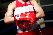 6/24/11 2:57:20 PM -- Colorado Springs, CO. -- A portrait of U.S. Olympic lightweight boxer Queen Underwood, 27, of Seattle, Wash. who will be competing for her fifth title. She began boxing in 2003 and was the 2009 Continental Champion and the 2010 USA Boxing National Champion. She is considered a likely favorite to medal at the 2012 Summer Olympics in London as women's boxing makes its debut as an Olympic sport. -- ...Photo by Marc Piscotty, Freelance.