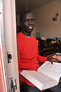 Okongo Majok, 21, who fled Sudan and came to Tucson, Arizona, USA, as a refugee, attends the University of Arizona and plans to be an anesthesiologist.