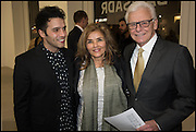 ALI  BANISADR WITH HIS PARENTS, Ali Banisadr | At Once | Private View, Blain Southern. Hanover Sq. London. 10 February 2015.