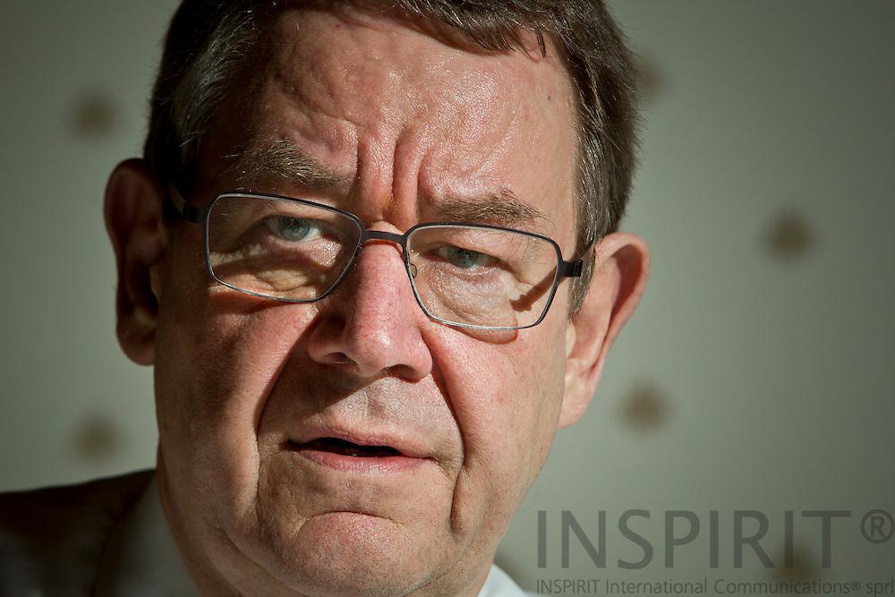 Interview med Poul Nyrup Rasmussen i anledning af at han stopper som formand for de europæiske socialdemokrater siden 2004 da han er fyldt 68 år, og efter at have haft helbredsproblemer. Bruxelles den 25 november 2011. PHOTO: ERIK LUNTANG / INSPIRIT Photo.