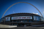 General view of stadium before the FIFA World Cup Qualifier match between England and Slovenia at Wembley Stadium, London, England on 5 October 2017. Photo by Martin Cole.