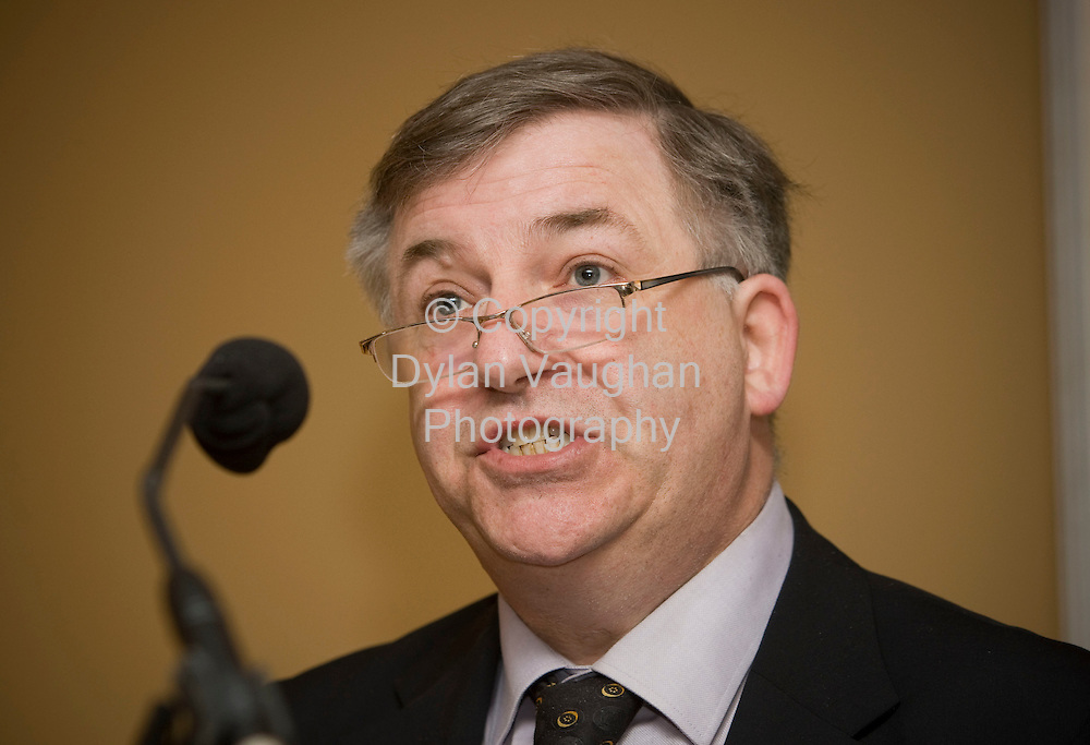 30/1/2008.free picture no charge for use.Pictured at the Teagasc National Tilage Conference 2008 at the Dolmen Hotel in Carlow was  Prof. Gerry Boyle, Director Teagasc..Picture Dylan Vaughan.
