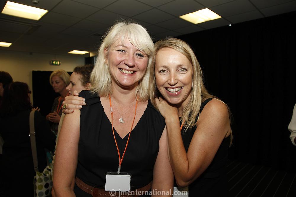 Fiona Haycock and Caryn Tomlinson. The BRIT School Industry Day, Croydon, London..Thursday, Sept.22, 2011 (John Marshall JME)