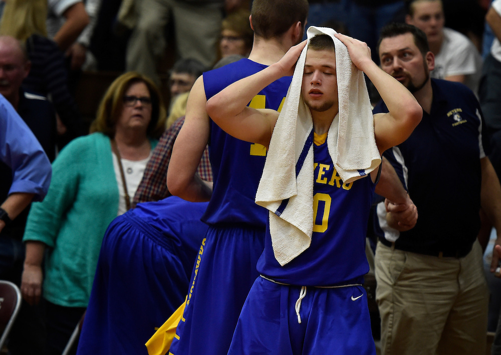 Matt Dessoye reacts to Meyers loss to Camp Hill.