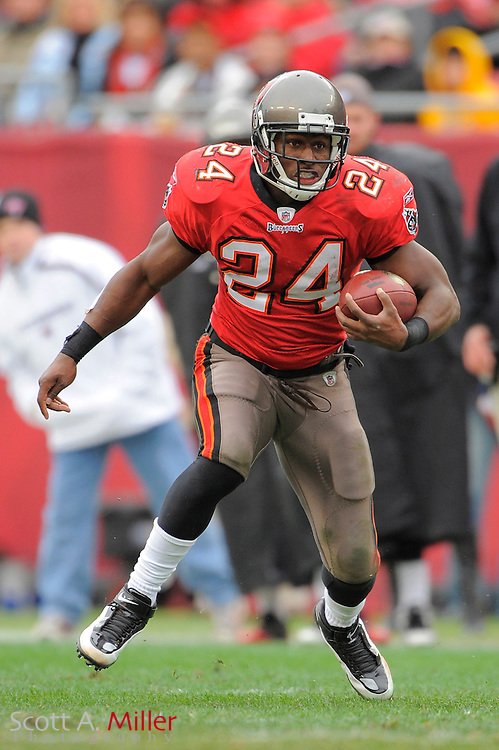 Jan. 3, 2010; Tampa, FL, USA; Tampa Bay Buccaneers running back Carnell Williams (24) in action during the Bucs game against the Atlanta Falcons at Raymond James Stadium. ©2009 Scott A. Miller