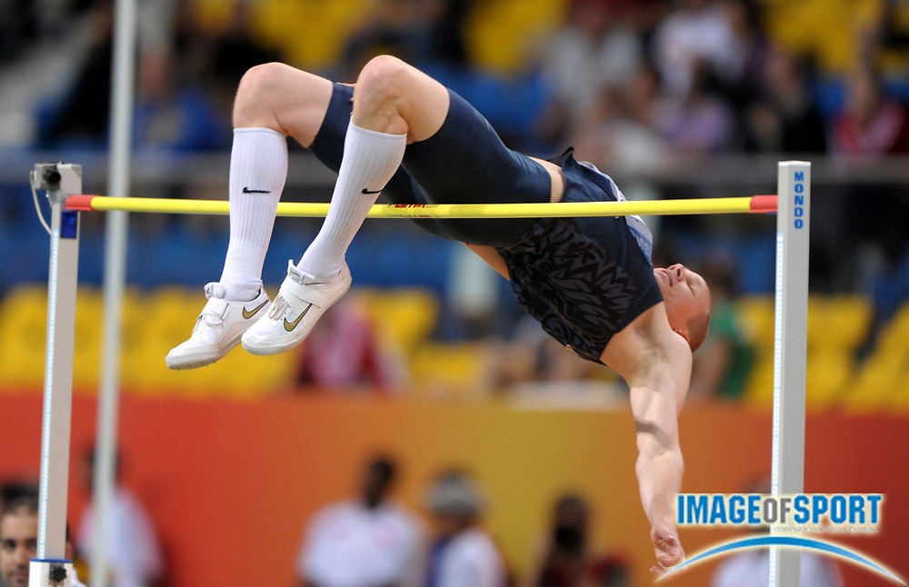Mar 12, 2010; Doha, QATAR; Jesse Williams (USA) cleared 7-5 (2.26m) in the high jump qualifying to advance to the final  in the IAAF World Indoor Championships in Athletics at the Aspire Dome.