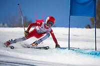 Piches Invitational U12 mens Giant Slalom with Gunstock Ski Club.  ©2016 Karen Bobotas Photographer