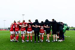 Bristol City Women huddle after the final whistle of the match  - Mandatory by-line: Ryan Hiscott/JMP - 24/11/2019 - FOOTBALL - Stoke Gifford Stadium - Bristol, England - Bristol City Women v Manchester City Women - Barclays FA Women's Super League