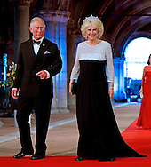 """PRINCE CHARLES AND CAMILLA, DUCHESS OF CORNWALL.attend the gala farewell dinner for Queen Beatrix.at the Rijksmuseum in Amsterdam, The Netherlands_April 29, 2013..Crown Prince Willem-Alexander and Crown Princess Maxima will be proclaimed King and Queen  of The Netherlands on the abdication of Queen Beatrix on 30th April 2013..Mandatory Credit Photos: ©Utrecht/NEWSPIX INTERNATIONAL..**ALL FEES PAYABLE TO: """"NEWSPIX INTERNATIONAL""""**..PHOTO CREDIT MANDATORY!!: NEWSPIX INTERNATIONAL(Failure to credit will incur a surcharge of 100% of reproduction fees)..IMMEDIATE CONFIRMATION OF USAGE REQUIRED:.Newspix International, 31 Chinnery Hill, Bishop's Stortford, ENGLAND CM23 3PS.Tel:+441279 324672  ; Fax: +441279656877.Mobile:  0777568 1153.e-mail: info@newspixinternational.co.uk"""