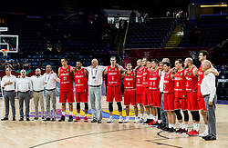Players of Hungary after the basketball match between National Teams of Serbia and Hungary at Day 11 in Round of 16 of the FIBA EuroBasket 2017 at Sinan Erdem Dome in Istanbul, Turkey on September 10, 2017. Photo by Vid Ponikvar / Sportida