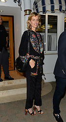 EXCLUSIVE: Recently engaged to be married to partner Gregorio Marsiaj, Eva Herzigová was seen at Tetou restaurant in cannes with a mystery man and without her engagement ring. 16 May 2017 Pictured: Eva Herzigová. Photo credit: MEGA TheMegaAgency.com +1 888 505 6342