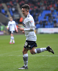 Bolton Wanderers' Zach Clough celebrates scoring his team's first goal - Photo mandatory by-line: Richard Martin-Roberts/JMP - Mobile: 07966 386802 - 14/02/2014 - SPORT - Football - Bolton - Macron Stadium - Bolton Wanderers v Watford - Sky Bet Championship