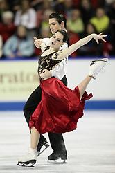 London, Ontario ---10-01-15--- Tessa Virtue and Scott Moir skate their origional dance program at the 2010 BMO Canadian Figure Skating Championships in London, Ontario, January 15, 2010. .GEOFF ROBINS/Mundo Sport Images..