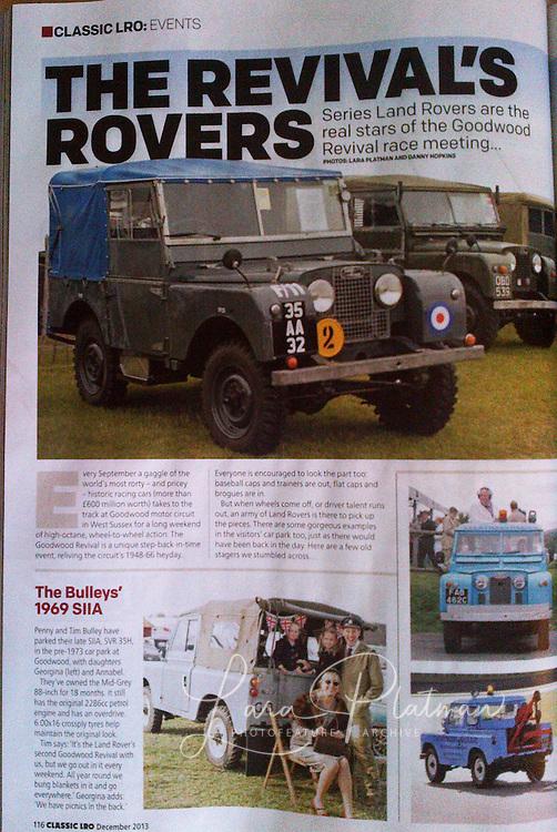 Goodwood Revival Landrover Owner magazine