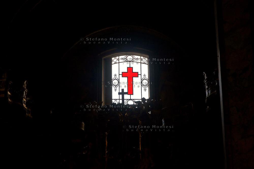 Roma 6 Luglio 2013<br /> ILa chiesa di Santa Maria Maddalena , nel rione Colonna. Rappresenta uno dei pochi e dei pi&ugrave; begli esempi dell'arte rococ&ograve; in Roma. E' la sede centrale dell'ordine dei Camilliani. La croce, emblema dei Camilliani.<br /> Rome July 6, 2013<br /> The Santa Maria Maddalena is a Roman Catholic church