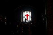 Roma 6 Luglio 2013<br /> ILa chiesa di Santa Maria Maddalena , nel rione Colonna. Rappresenta uno dei pochi e dei più begli esempi dell'arte rococò in Roma. E' la sede centrale dell'ordine dei Camilliani. La croce, emblema dei Camilliani.<br /> Rome July 6, 2013<br /> The Santa Maria Maddalena is a Roman Catholic church