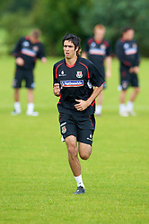 WREXHAM, WALES - Monday, August 18, 2008: Wales' Rhys Williams training at Colliers Park ahead of their UEFA European U21 Championship Group 10 Qualifying match against Romania. (Photo by David Rawcliffe/Propaganda)