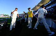 England win - Alastair Cook of England leaves the field and is congratulated after England win the test series with a match to spare during the 4th day of the 4th SpecSavers International Test Match 2018 match between England and India at the Ageas Bowl, Southampton, United Kingdom on 2 September 2018.
