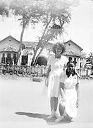 Barbara Rulach in St. Paul's Milagiriya school uniform. <br /> Pictures by Bertram Rulach