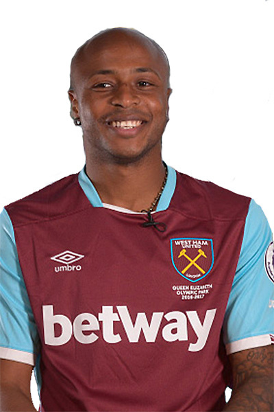 STRATFORD, ENGLAND - AUGUST 08: (EXCLUSIVE COVERAGE) West Ham United unveil new signing Andre Ayew at London Stadium on August 8, 2016 in Stratford, England. (Photo by Arfa Griffiths/West Ham United via Getty Images)