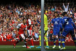 Goal, Alexis Sanchez of Arsenal scores, Arsenal 2-0 Everton - Mandatory by-line: Jason Brown/JMP - 21/05/2017 - FOOTBALL - Emirates Stadium - London, England - Arsenal v Everton - Premier League