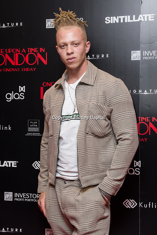 Chris Jamme Arrivers at Once Upon a Time in London - London premiere of the rise and fall of a nationwide criminal empire that paved the way for notorious London gangsters the Kray Twins and the Richardsons at The Troxy 490 Commercial Road, on 15 April 2019, London, UK.